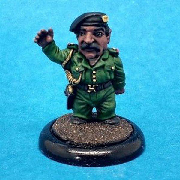 Saddam Hussein caricature