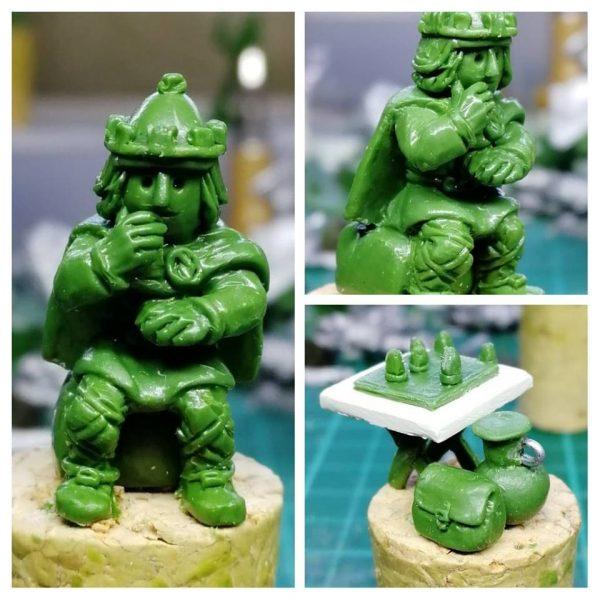 Noggin the Nogg miniature made with Greenstuff