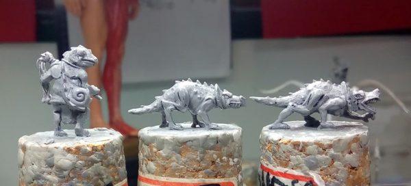 Khamaí beast handler sculpts